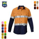 100%년 면 Mens 화재 방어적인 안녕 힘 안전 일 셔츠