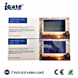 Alta qualidade folheto video da tela do LCD de 7 polegadas com impressão feita sob encomenda