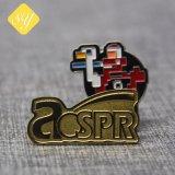 良質は真鍮の青銅色の金によってめっきされたロゴのバッジをカスタマイズした