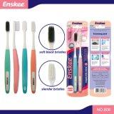 Toothbrush adulto delle setole nere molli con 2 in 1 pacchetto 808 di economia