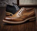 Burgunder-Mann-Kleid-Schuh-Form-Art-Fußbekleidung für Männer