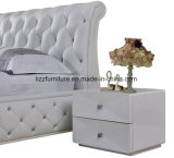 미국 현대 호텔 가구 Chesterfield 특대 가죽 침대