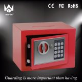 Caixa eletrônica vermelha do cofre forte da HOME do fechamento da cor 17e