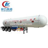 3 dos eixos 40cbm do transporte do líquido reboque químico Semi