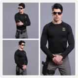 Negro- (STAR) ligero entrenamiento militar caliente de manga larga traje ropa interior térmica