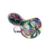 Tubulação de vidro da colher da listra colorida de vidro de vidro da tubulação de fumo da tubulação da mão