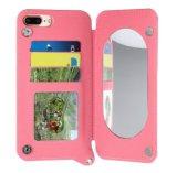 Espelho Traseiro elegante carteira caso telefone para iPhone 7/8/X