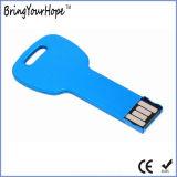 長円の穴(XH-USB-054)が付いている銀製のキーUSB 2.0