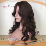 Peruca amarrada mão do cabelo humano (PPG-l-0822)