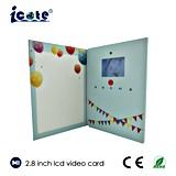 Cartão de anúncio video da tela do LCD com 2.4 2.8 polegadas