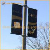 Pôle de la rue bannière publicitaire en métal les pièces (BS-HS-011)