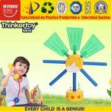 Giocattoli creativi di plastica del mulino a vento della particella elementare di formazione dell'en 71 DIY
