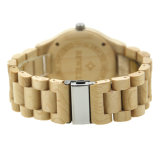 OEM Van uitstekende kwaliteit van het Horloge van de Mensen van het Polshorloge van het Embleem van de Douane van de Leverancier van China Houten Houten