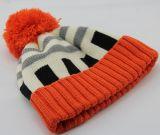 レディースメンズ男女兼用のネオン蛍光球の帽子POMのPOMによって編まれる冬の暖かい帽子の厚い帽子(HW116)
