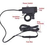 De Adapter van de Lader van de Telefoon van de motorfiets USB met de Schakelaar van de Macht