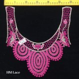 motif en ivoire rose d'Applique de collier de chape de corsage de lacet de 30*29cm Venise par Piece Hme918