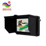배터리 전원을 사용하는 7 인치 전체가 다 보이는 HD 스크린 휴대용 1080P CCTV Ahd DVR 지원 Fhdtvi 의 &Memory /Cvi/Ahd/CVBS W 차양