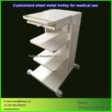 Carrello medico della lamiera sottile personalizzato per il carrello della strumentazione dell'ospedale