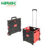 Pack y rollo de plástico plegable plegable práctico carrito con asiento