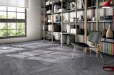 Glasig-glänzende Fußboden-Fliese des Sand-Steinserien-dunkle Grau-600X600 mm Porecelain (Matt)
