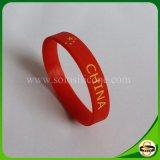 Напечатанный изготовленный на заказ браслет силикона логоса для подарка рождества