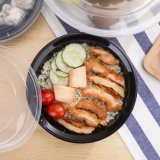 Cadre de déjeuner en plastique remplaçable divisé de Bento de récipient d'entreposage de nourriture de pp