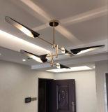 El colgante colgante de la cocina negra brillante moderna de la alta calidad enciende la iluminación, también ajustó para el cortijo