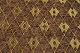 ブラウンの格子縞のシュニールのソファーの布(FTH31180B)