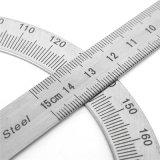높은 정밀도 스테인리스 분도기 통치자 0-180 정도 15cm