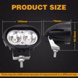 Iluminación blanca 4 pulgadas de 4X4 20W Auto luz LED de trabajo