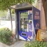 Ayuna la máquina expendedora del bocado para validar el pago sin contacto