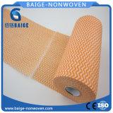 Trapos impresos anaranjados del Nonwoven de Spunlace para la cocina