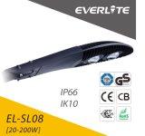 Everlite 5 Zonne LEIDENE van het Aluminium 30W-250W van het Lumen van de Garantie van de Openlucht Hoge Jaar Straatlantaarn