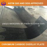 Plaque de recouvrement de soudure de carbure de chrome pour la doublure de position