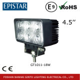 """4.5 """" 18W 도로 점화 떨어져 차를 위한 정연한 LED 일 빛"""