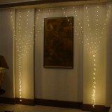Het warme Witte Licht van het Koord van de Draad van het Koper van de Decoratie van het Gordijn van Kerstmis Lichte Openlucht