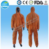 Bata de trabajo protectora impermeable disponible de PP+PE