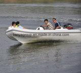 Liya 4.3mのガラス繊維船外エンジンのボートの速度の肋骨のボート