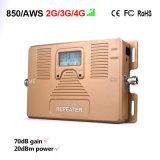 Répéteur à deux bandes de signal de téléphone mobile de servocommande de signal du téléphone cellulaire 850/1700MHz de prix usine
