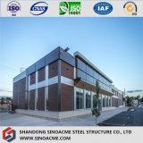 """Construction structurale en acier de grande envergure Hall préfabriqué avec le panneau """"sandwich"""""""