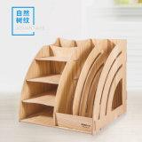 Organizador de madeira Desktop destacável dos artigos de papelaria do escritório da caixa de armazenamento DIY