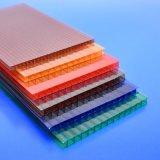 le PC coloré de polycarbonate de Lowes teinté par 4mm lambrisse le prix creux de feuille de toiture