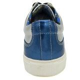 Zapatos ocasionales de los hombres de China con la PU brillante del color de Mirrow