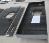 Parte superiore nera di Countertop&Vanity della cucina del granito della perla
