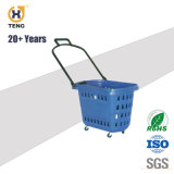28L por grosso de mão flexível cesta de compras de supermercado de plástico para lojas