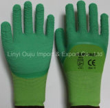 Nitril/Latex/PU beschichtete beschichtende Arbeits-Handschuhe des Handschuh-Latex-Schaumgummi beschichtete Handschuh-3/4