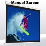 Bureau de montage mural de 92 pouces Projecteur Écran de projection de manuel blanc mat