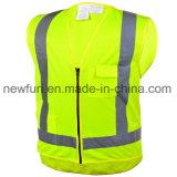 Gilet jaune fluorescent de sûreté de la CE En20471 Reflecitve
