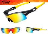 Материала объективов PC Hotsale затавренный тип солнечных очков Riding UV задействуя резвится солнечные очки