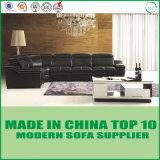 Sofa-Möbel-Wohnzimmer-ledernes Eckgeschnittensofa